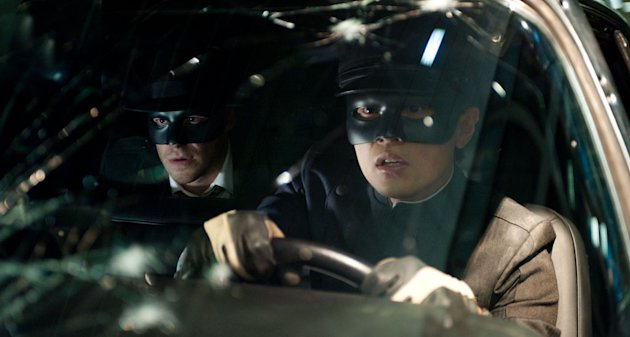 Seth Rogen Jay Chou The Green Hornet Production Stills Columbia 2011