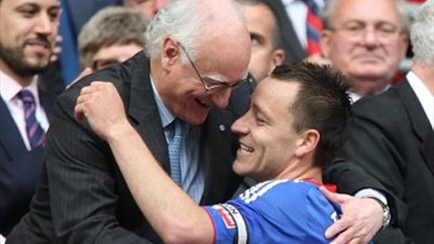 Chelsea chairman Bruce Buck with defender John Terry (PA Sport)