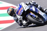 Spain's Jorge Lorenzo of Yamaha Factory Racing Team rides during the second training session of the Grand Prix of Italy at the Mugello Circuit. Lorenzo dominated practice on his Yamaha despite windy conditions during the first two sessions ahead of this weekend' Italian Grand Prix