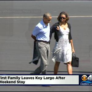 President Obama & First Lady Leave S.Fla.
