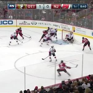 Craig Anderson Save on Scott Gomez (11:22/1st)