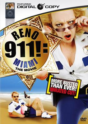"Box art for the ""More Busted Than Ever!"" edition of 20th Century Fox's Reno 911: Miami"