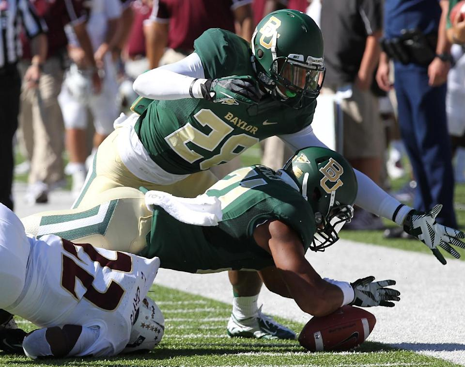No. 20 Baylor keeps scoring, 70-7 over ULM