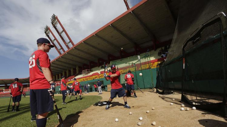 Bregman bats during a training session in the province of Matanzas