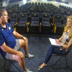 On The Scene With Michigan Coach Brady Hoke