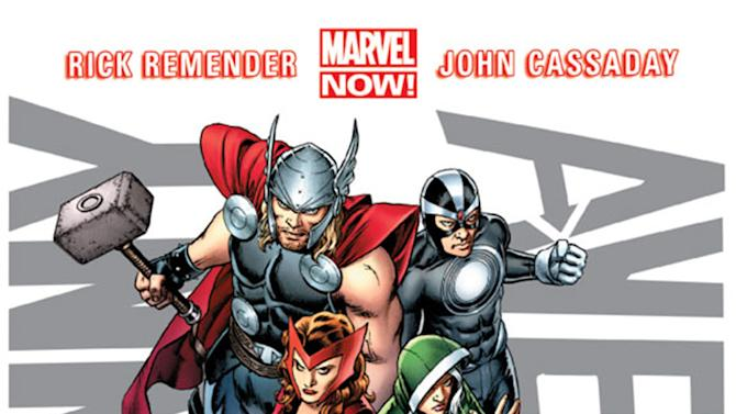 This image provided by Marvel Entertainment shows the cover of the first issue of Uncanny Avengers. In comics, the first issue is where the story starts and the legend begins. Marvel Entertainment, home to the Fantastic Four, the X-Men and the Avengers, among others, is making more than 700 first issues available to digital readers starting Sunday, March 10, 2013, via its app and website. (AP Photo/Marvel Entertainment)