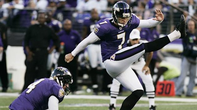 Baltimore Ravens place kicker Billy Cundiff in 2011