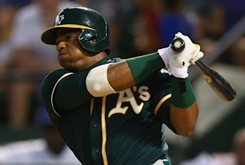 Yoenis Cespedes is now with the Red Sox and can become a free agent after 2015. (Getty Images)