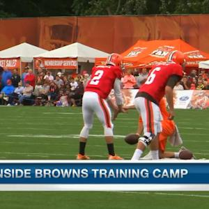 Which Cleveland Browns QB looks more comfortable in camp?