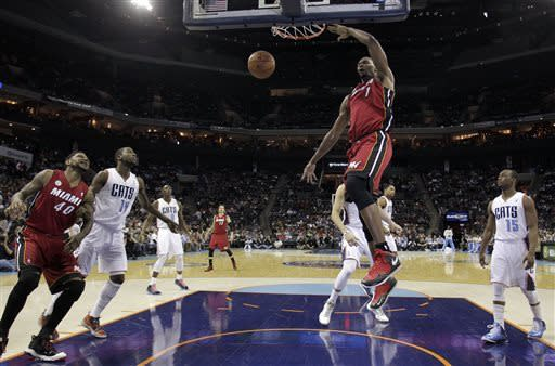 Miller, injury-depleted Heat topple Bobcats 89-79