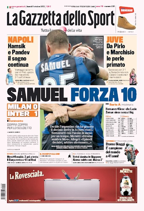 Portada Gazzetta Clsico 7 Octubre