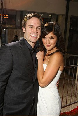 Scott Porter and Minka Kelly at the Los Angeles premiere of Screen Gems' Prom Night