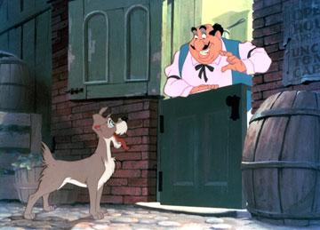 Tramp and Tony in Walt Disney Pictures' Lady and the Tramp
