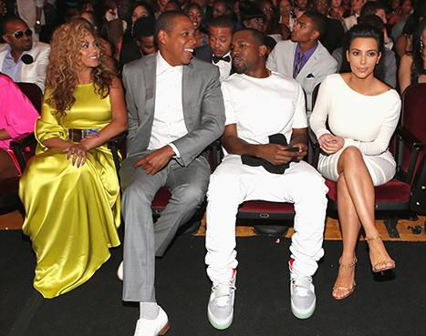Beyonce, Jay-Z, Kanye West and Kim Kardashian Yuk it Up at the BET Awards