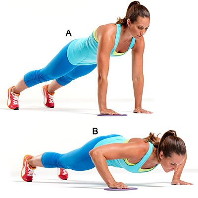 Slide push-up