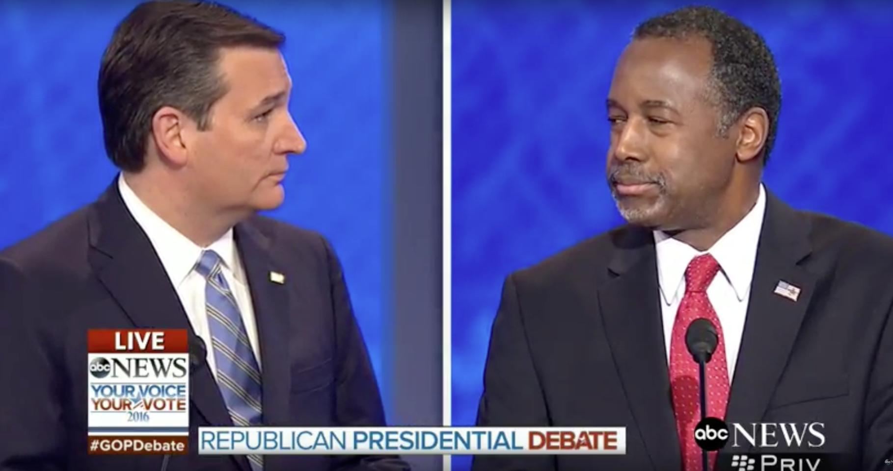 'Ben, I'm sorry': Ted Cruz apologizes to Ben Carson on the debate stage