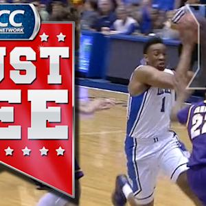 Jabari Parker Blocks Shot and Goes Coast to Coast | ACC Must See Moment