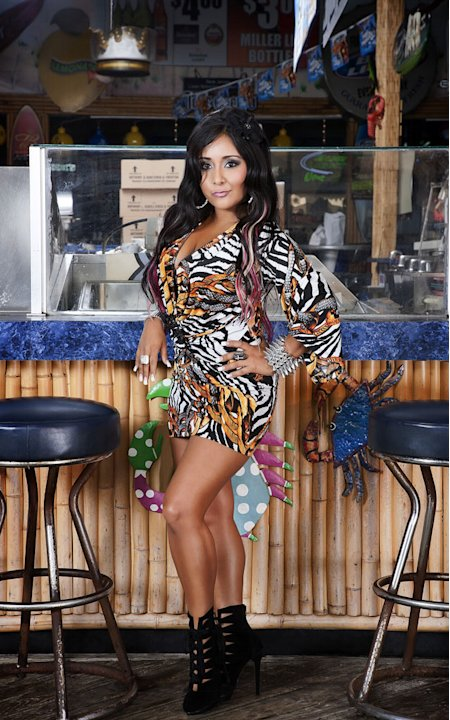 "Nicole ""Snooki"" Polizzi back in Seaside, NJ for Season 5 of ""Jersey Shore."""