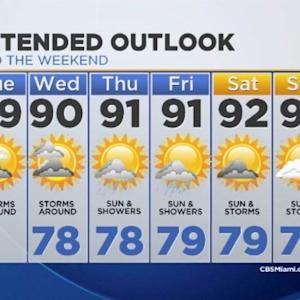 CBSMiami.com Weather 7/22/2014 Tuesday 9A