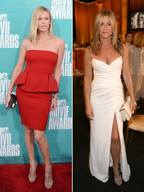 Charlize Theron/Jennifer Aniston -- Getty Images