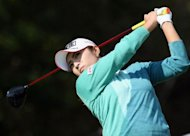 Lee Bo-Mee of South Korea tees off during the second round of the USLPGA Tour Mizuno Classic golf tournament in Japan. Lee hit an excellent bogey-free round with eight birdies for a 64 to take a comfortable four-stroke lead in the USLPGA Tour Mizuno Classic tournament