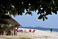 Picture taken on April 29, 2012 show the view of Tokeh beach near Freetown. Bone-white sand squeaks beneath your feet, the curved beach framed by lush forested hills, empty but for a handful of expats and intrepid tourists who have gotten wind of Sierra Leone's raw beauty