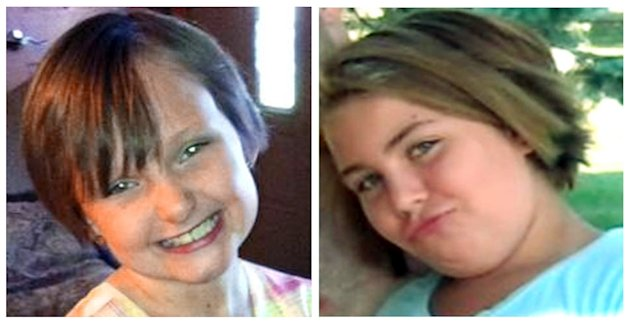 This combo made from undated photos provided by the FBI shows cousins Lyric Cook, 10, right, and Elizabeth Collins, 8, who have been missing since Friday, July 13, 2012. Dan Morrissey, Lyric's father, is expected to learn Friday, July 27, whether he will be put on trial next week for domestic abuse or drug charges, raising the possibility that he could be sent to prison even as the search continues. (AP Photo/FBI)