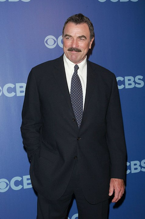 "Tom Selleck (""Blue Bloods"") attends the 2010 CBS Upfront at The Tent at Lincoln Center on May 19, 2010 in New York City."