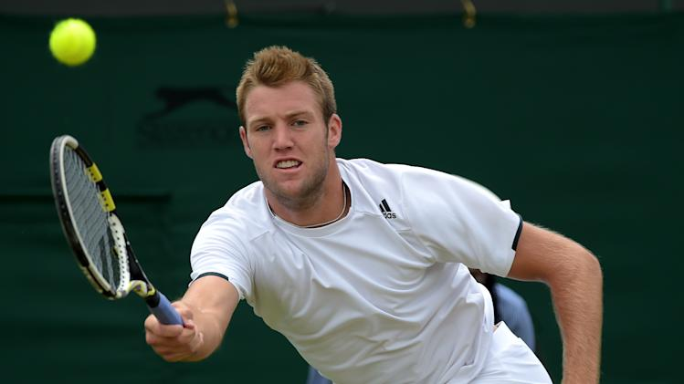 US player Jack Sock during the Wimbledon Championships on June 26, 2014