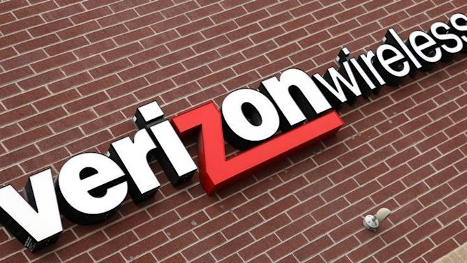 Sign of Verizon Wireless is seen at its store in Westminster