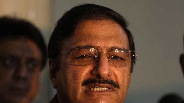 "Pakistan Cricket Board chief Zaka Ashraf talks to reporters in Lahore, Pakistan, Friday, Jan. 31, 2014. Ashraf warned the sport will be ruined if, in the proposed changes to the International Cricket Council, ""We go after money."" (AP Photo/K.M. Chaudary)"
