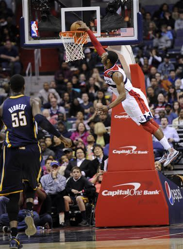 Wizards mark '78, Wall has 37 in win over Pacers