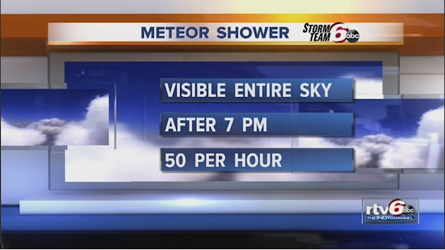 Chance to see meteor showers tonight