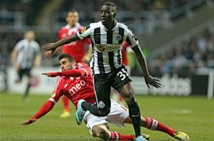 Newcastle 1-1 Benfica (Agg: 2-4): Magpies bow out despite Cisse strike