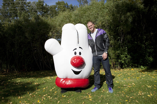 Kyle Rudolph and Lefty Hanging Out