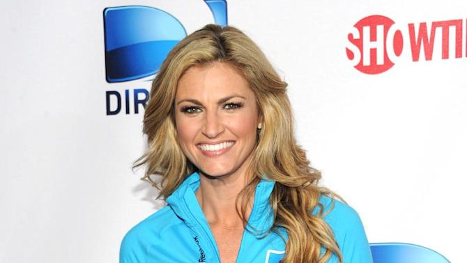 Erin Andrews arrives at DIRECTV's Seventh Annual Celebrity Beach Bowl, on Saturday, Feb. 2, 2013 in New Orleans. (Photo by Evan Agostini/Invision/AP)