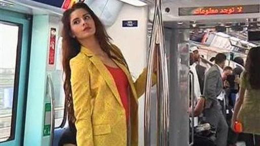 All Aboard: Dubai Train Turns Into a Catwalk