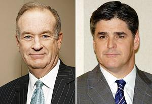 Bill O'Reilly, Sean Hannity | Photo Credits: Mark Von Holden/FilmMagic, Lawrence Lucier/FilmMagic