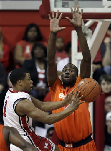 No. 2 Syracuse beats Rutgers 74-64