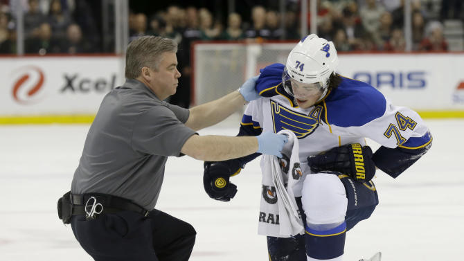 Oshie ruled out for Blues playoff opener