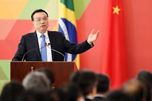 China's Prime Minister Li Keqiang speaks during …