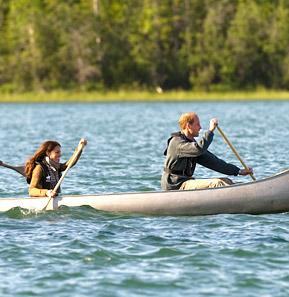"William, Kate Canoe to ""Honeymoon Island"" for Alone Time"