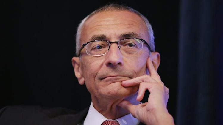 John Podesta, pictured during a conference in Washington, DC, on October 24, 2013