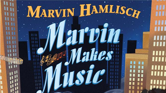 "This book cover image released by Dial Books for Young Readers shows ""Marvin Makes Music,"" a children's book by Marvin Hamlisch and illustrated by Jim Madsen. Hamlisch told his story in an autobiography for adults and was excited to do the same with a children's picture book that now has a bittersweet release after his death at 68. The book, for the Penguin imprint Dial, goes on sale Nov. 8 and includes a one-song CD. It was the first picture book for the composer, who died Monday after a brief illness. (AP Photo/Dial Books for Young Readers)"
