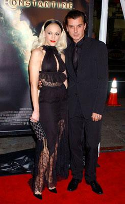 Gwen Stefani and Gavin Rossdale at the Hollywood premiere of Warner Bros. Pictures' Constantine