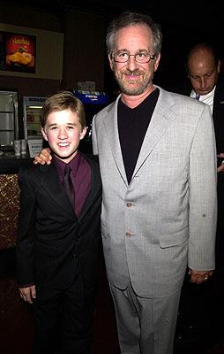 Haley Joel Osment and Steven Spielberg at the New York premiere of Warner Brothers' A.I.: Artificial Intelligence