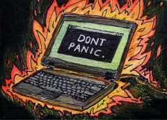 How To Use Social Media in a Crisis image panic