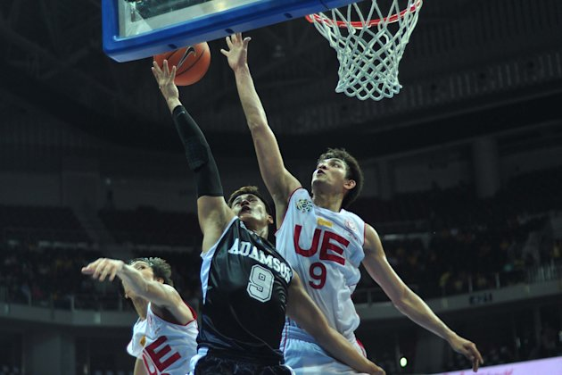 Jericho Cruz scattered 28 points in Adamson's 89-69 win over UE. (George Calvelo/NPPA)