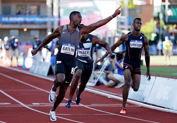Justin Gatlin, English Gardner win 100 meters at U.S. Olympic Trials