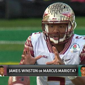 Florida State quarterback Jameis Winston or Oregon quarterback Marcus Mariota?